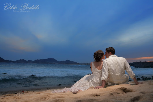 Sunset Da Monalissa, Los Cabos, Adriana and Jeffrey Weding