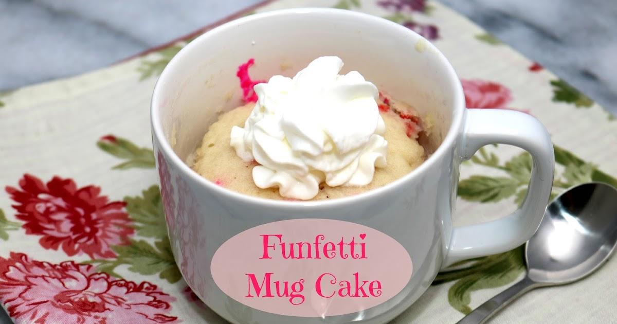 Funfetti Mug Cake Tasty