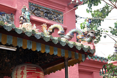 Detail of the roofs of the Jade Emperor Pagoda