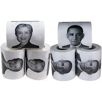 President Barack Obama and Hillary Clinton Funny Political Toilet Paper