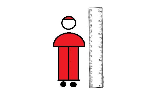 cartoon of Catholic cardinal next to ruler