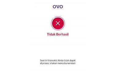 Transfer OVO Tidak Berhasil