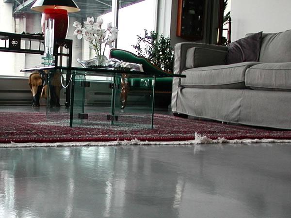 Live well live pure november 2011 - Concrete floor living room ...
