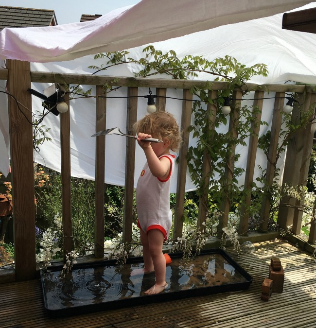 #MySundayPhoto number 20 toddler playing in water