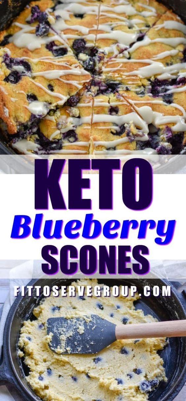 Keto Blueberry Scones