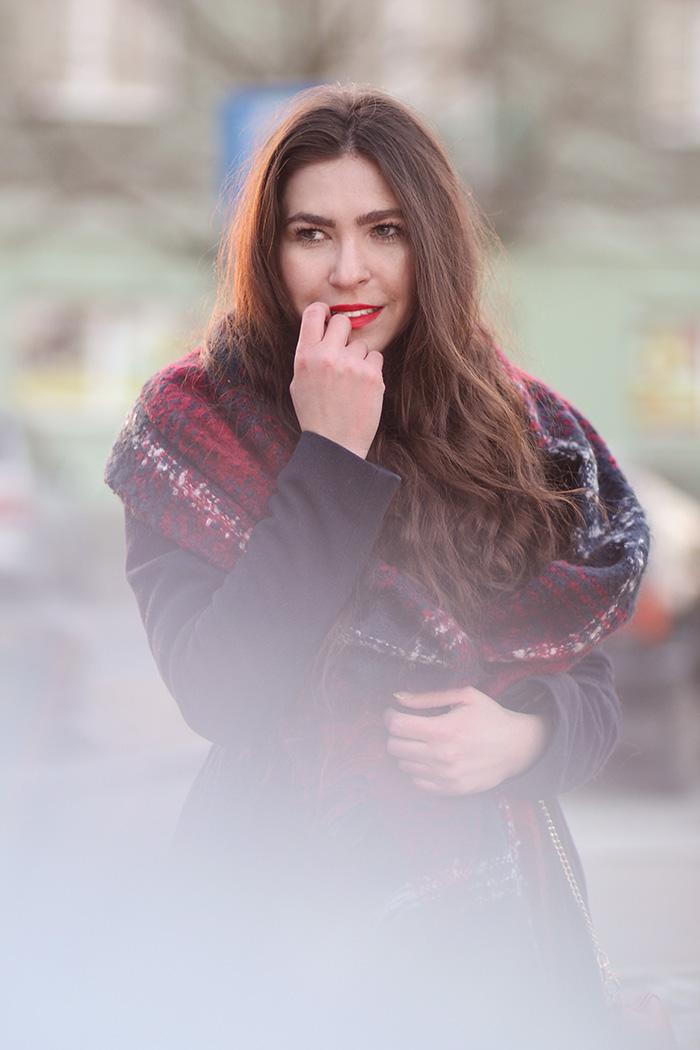 szal, kratka, szalwczerwonąkratę, checked, scarf