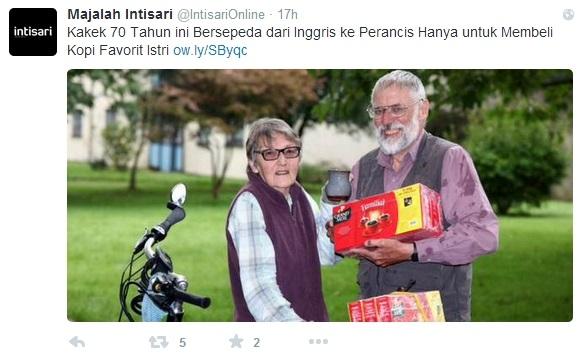 70 vjeçari pedalon për 350 klm për t'i blerë gruas kafenë e preferuar