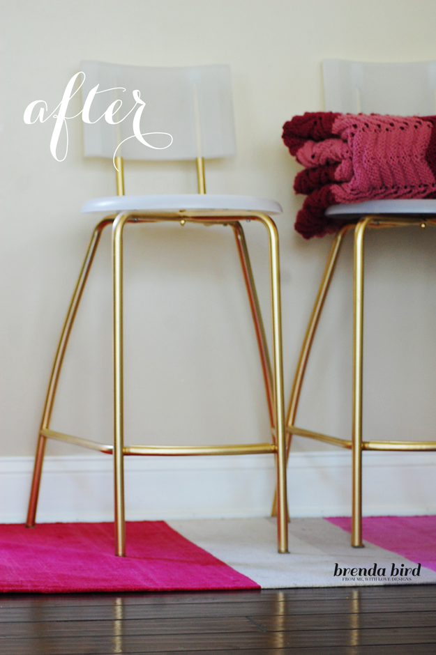 DIY Ikea hack GLAMMED UP GOLD STOOLS