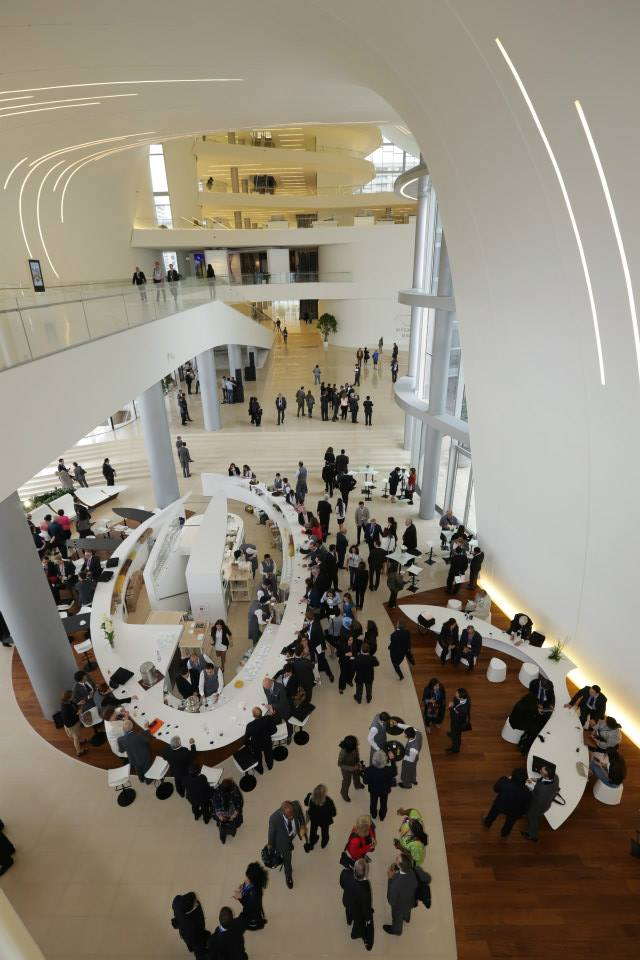 Interior of Heydar Aliyev Cultural Center by Zaha Hadid Architects