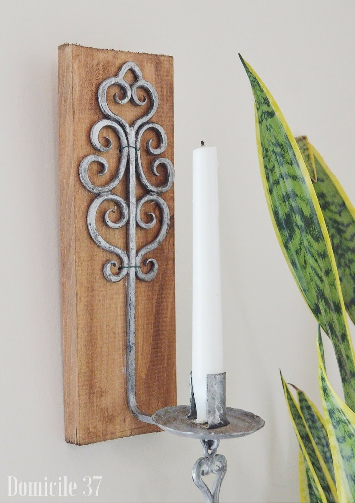 World Market, World Market knockoff, World market inspiration, world market candleholder sconce, wood sconce candleholder DIY, DIY Sconce Candle holder, thrifted candleholder, CeCe Caldwell Walnut Grove Stain