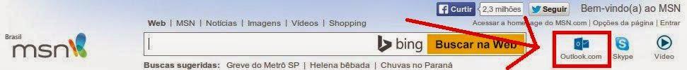 Como criar e-mail na Outlook MSN