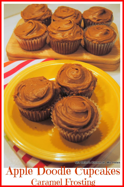 Apple Doodle Cupcakes With Caramel Frosting at Miz Helen's Country Cottage