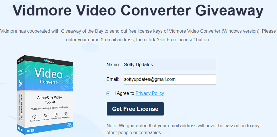Giveaway: Vidmore Video Converter Free Year