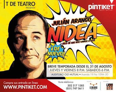 NIDEA POR JULIAN ARANGO (COMEDIA) auditorio old mutual