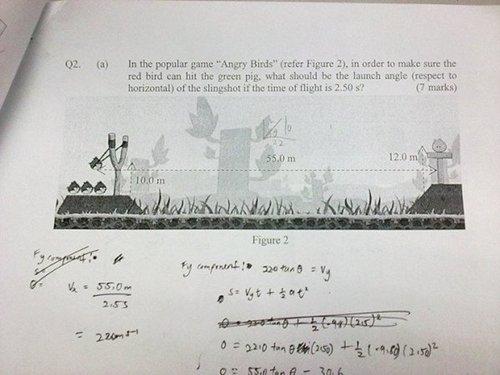 [FOTO] Game Angry Birds Jadi Bahan Ujian Fisika
