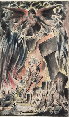 William Blake - Job's Sons and Daughters Overwhelmed by Satan