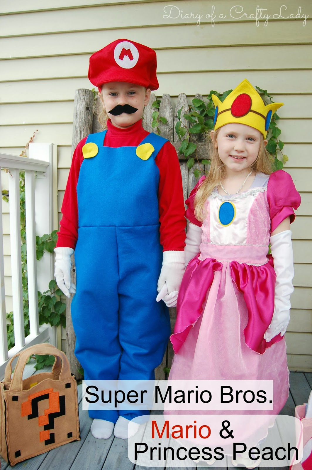 costume diary of a crafty lady meet mario and princess peach 2016 kids
