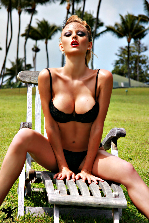 Lindsay Marie Black Lingerie 16