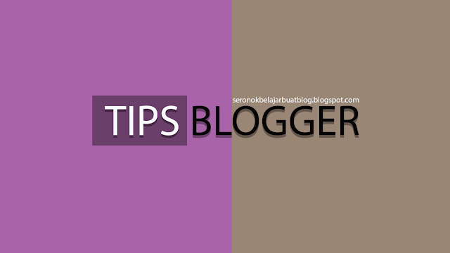 TUTORIAL : CARA LETAK IKLAN DI SIDE BAR BLOG !