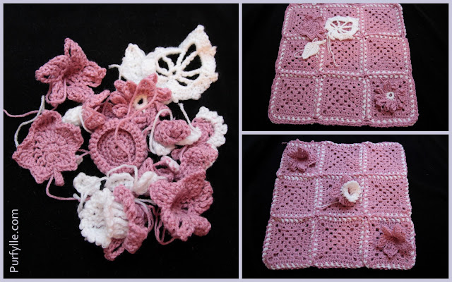 crochet motifs and joined granny squares