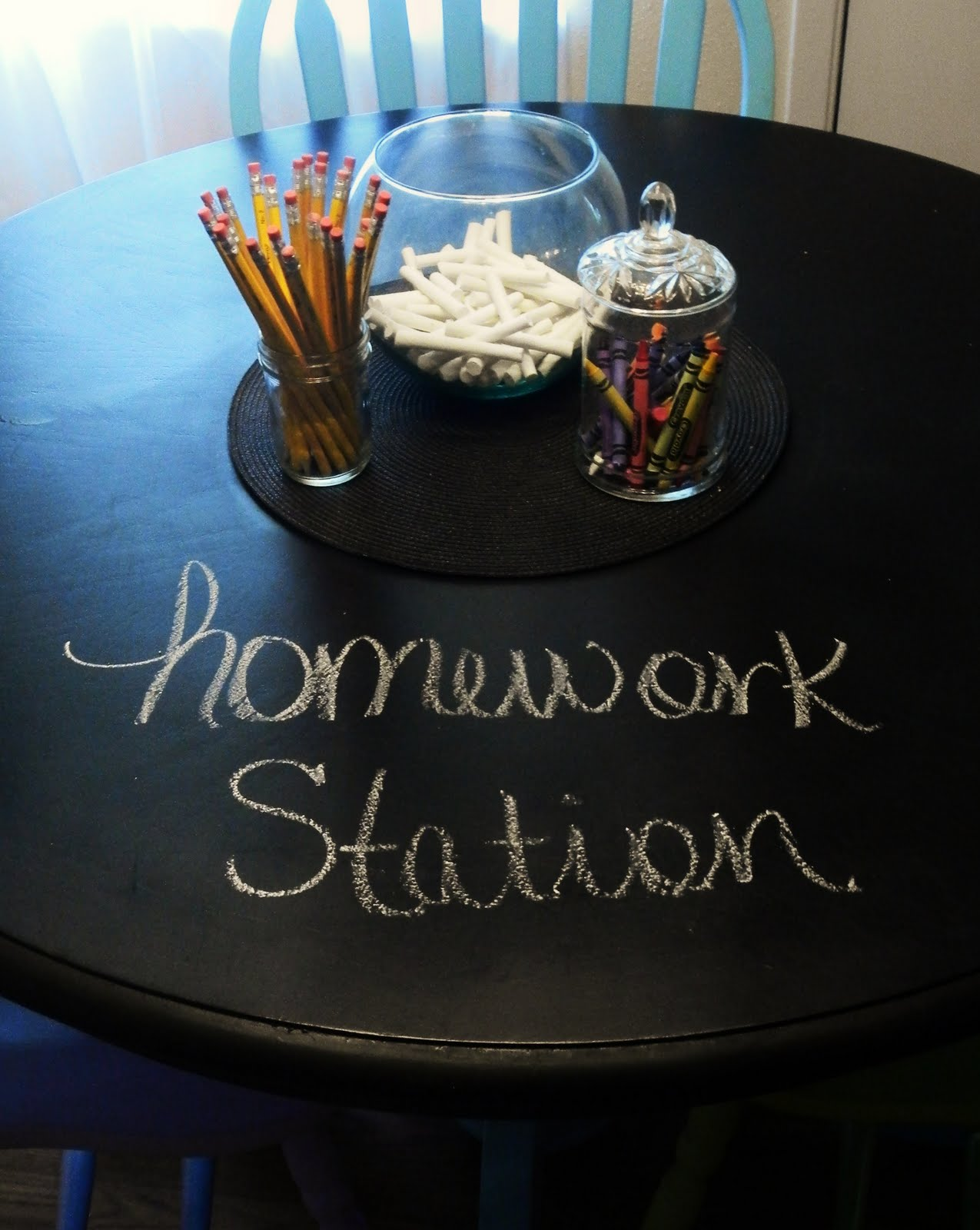 Chalkboard homework station | Back to School: Coolest Learning Spaces