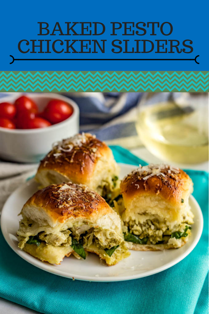 BAKED PESTO CHICKEN SLIDERS