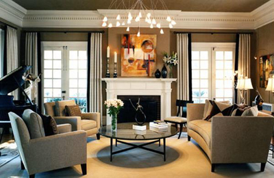 Desain Modern Klasik Untuk Ruang Keluarga