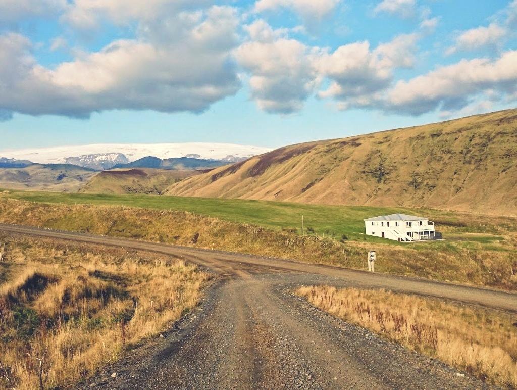 Islandia, krajobraz, jesień, lodowiec, dom, droga, islandzka jesień