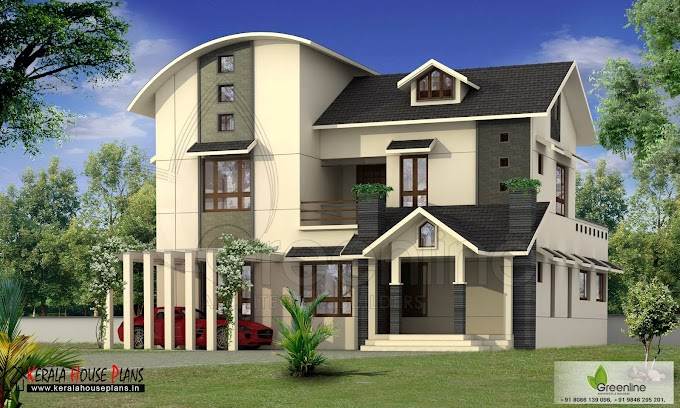 Mixed roof Contemporary house Design