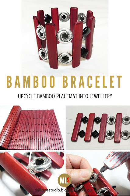 How to upcycle a bamboo placemat into a smart bracelet tutorial sheet