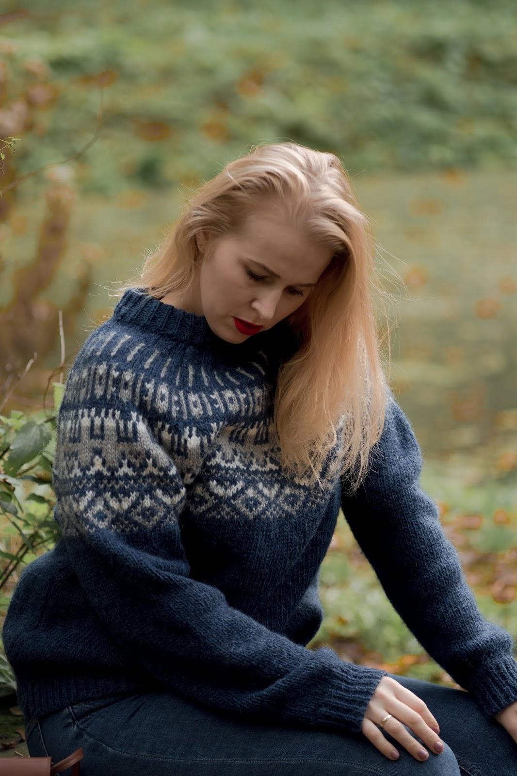 zimowy sweter wełniany
