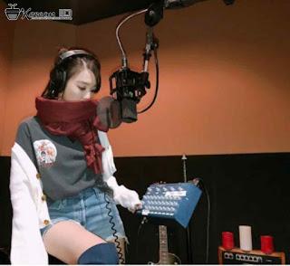 Foto Cantik Tiffany SNSD sedang Rekaman
