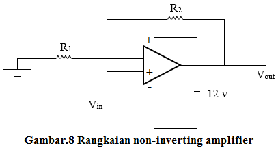 rangkaian non-inverting amplifier