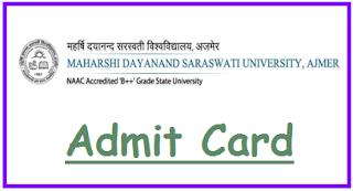 MDSU Admit Card 2019