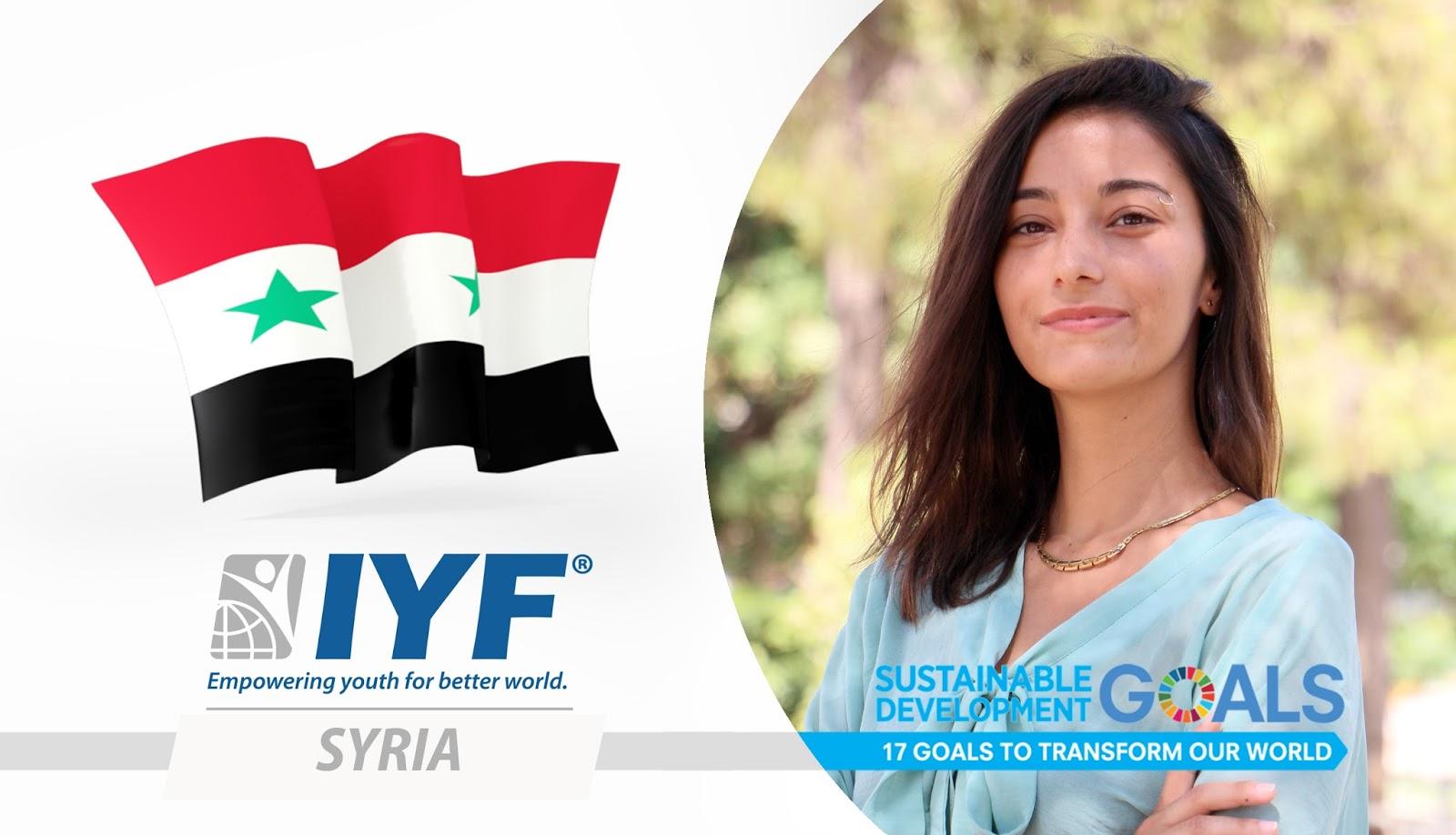 Sarah Zein, IYF Representative in Syria