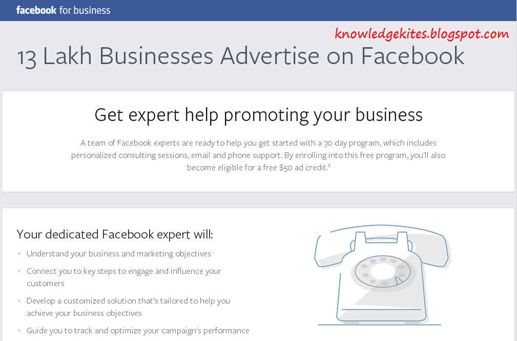 Facebook advertisement - Free Facebook ad program