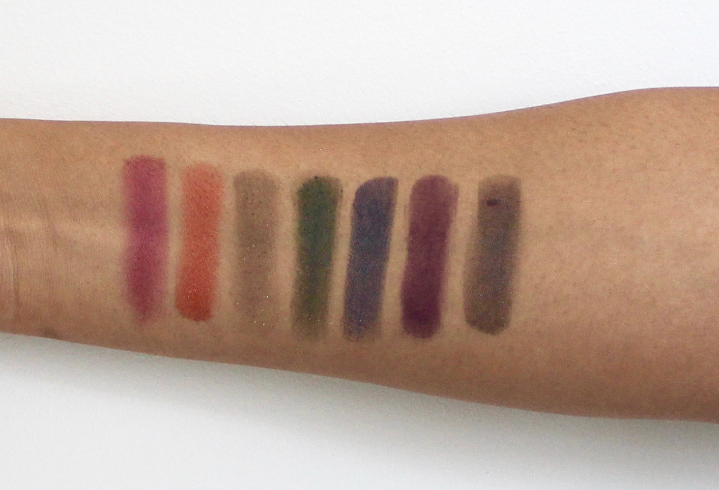 Top row full spectrum palette swatches