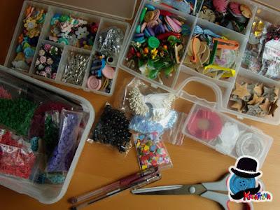 organizzare materiale creativo