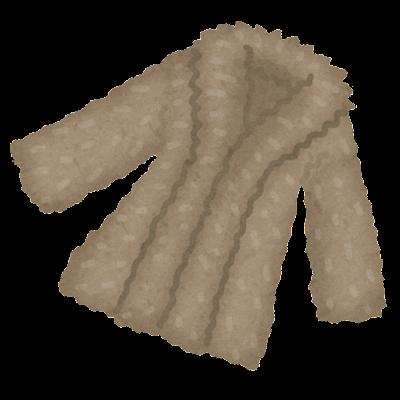 毛皮のコートのイラスト