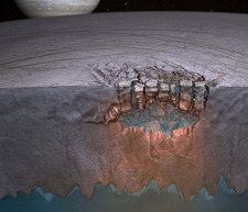 Liquid Water On Icy Europa