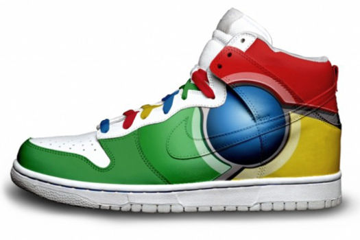 2da33933ebe1 Nike Dunks Custom Design Sneakers   Google Chrome Browser Nike SB ...