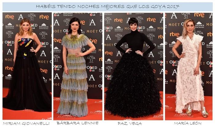 Peores Lookss de Premios Goya 2017