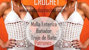 Bañador o Malla enteriza a Crochet / Patrones e instrucciones