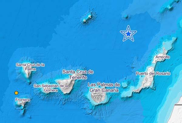Terremoto Atlántico Canarias magnitud 3,5