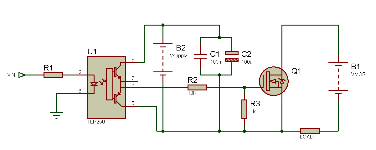 Tahmid S Blog Using The Tlp250 Isolated Mosfet Driver