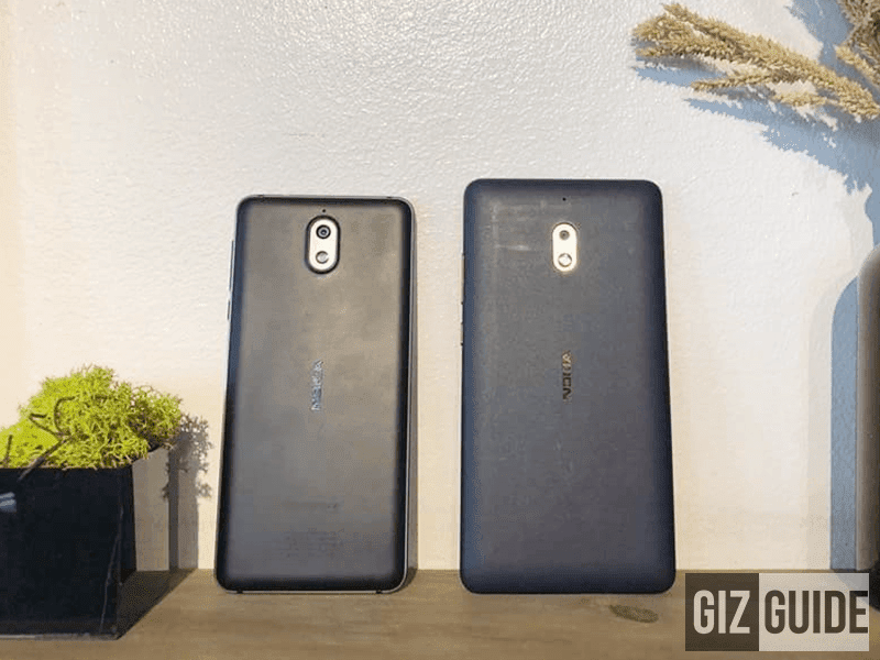 Nokia 2.1 and 3.1 at the back