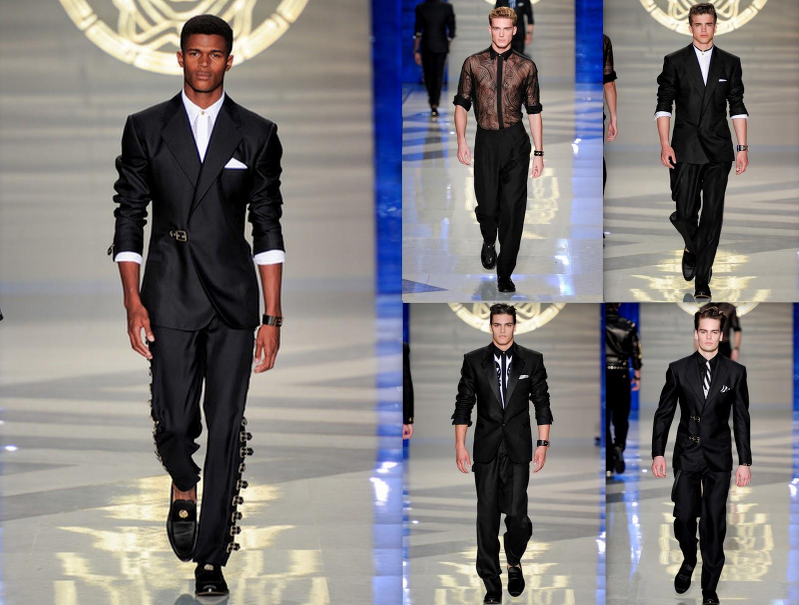 257b925a0a9d El negro es indiscutiblemente un color esencial en la colección de Versace.  La sofisticación viene en forma de transparencias