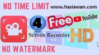 Best 3 Free screen recorders HD online no watermark for youtube videos & games review 2019
