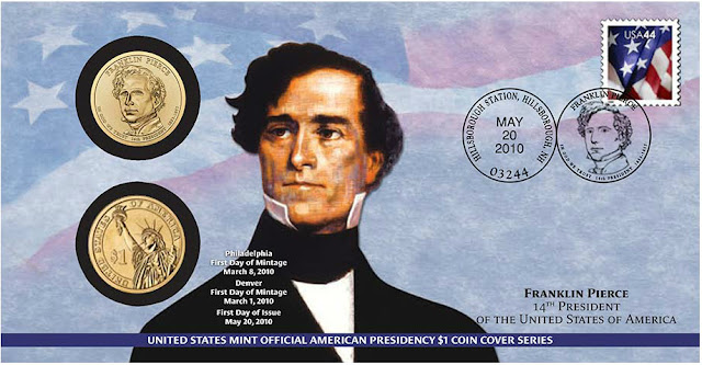 Franklin Pierce, 14th President of the United States Dollar Coin Cover
