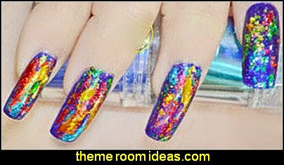 Starry Mixed Metals Nail Art Roll Foils Glitter Transfer Stickers